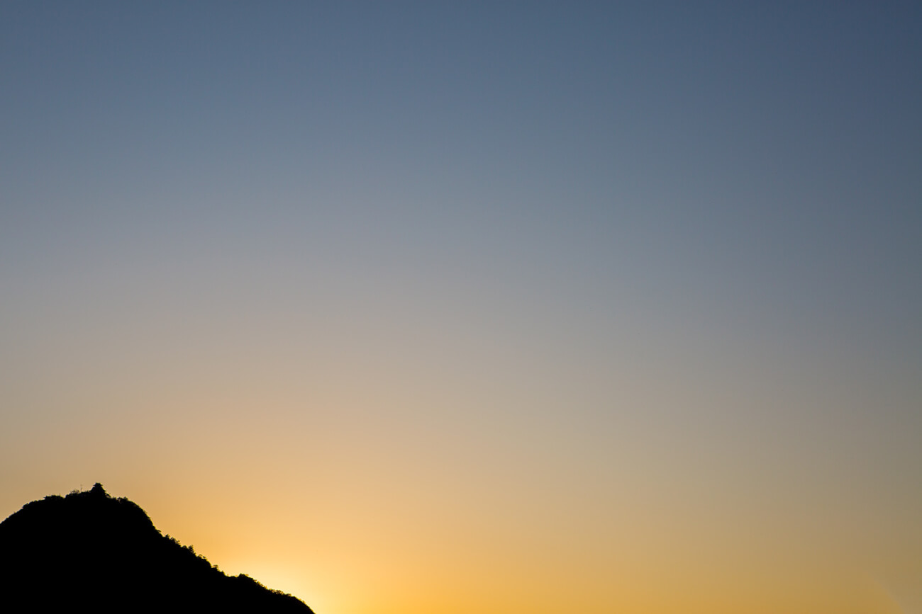 岐阜城と夕焼け
