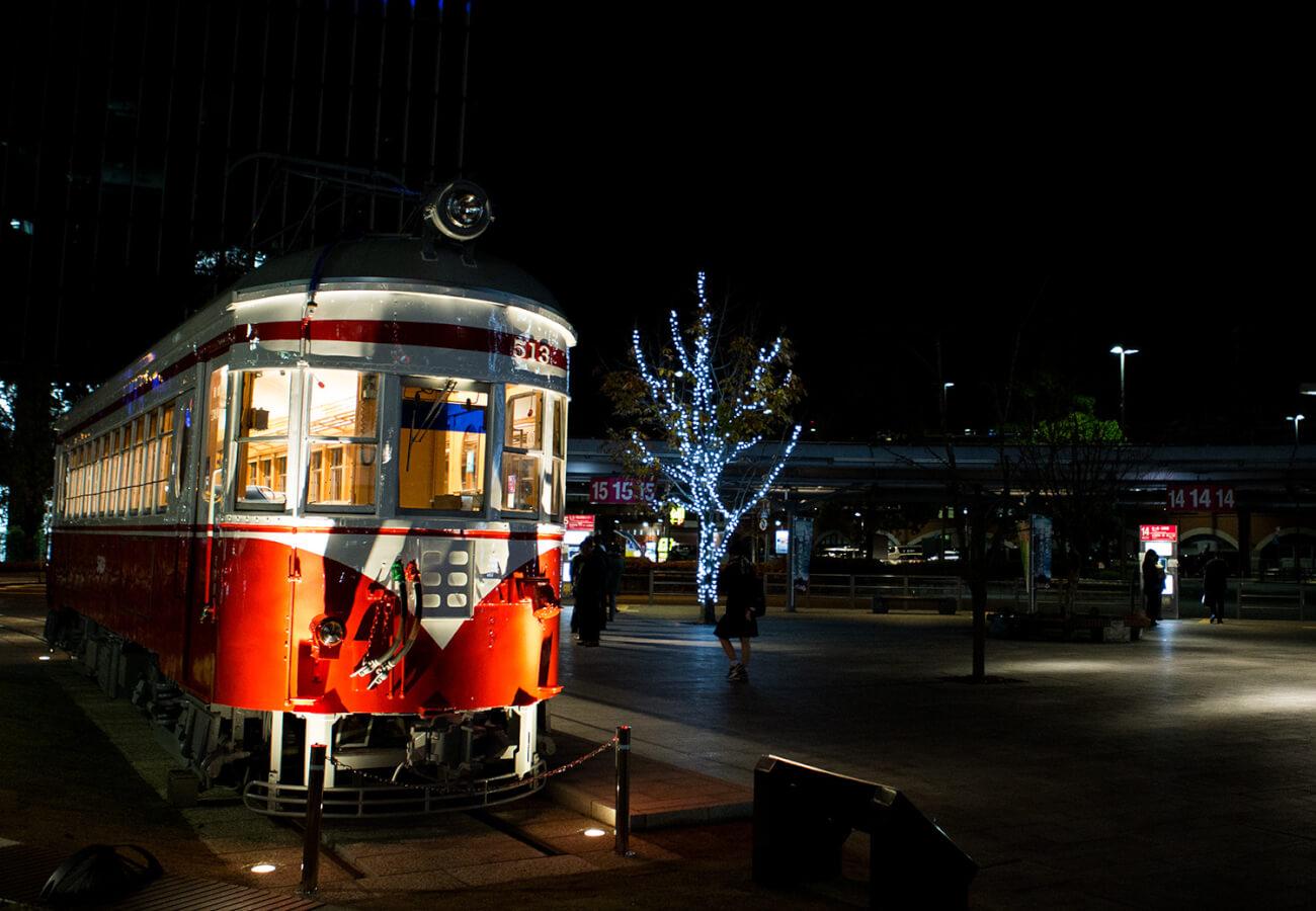 列車クリスマス